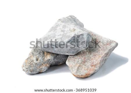 marble stone isolate on white - stock photo