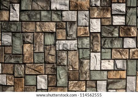 marble stone wall/marble stone - stock photo