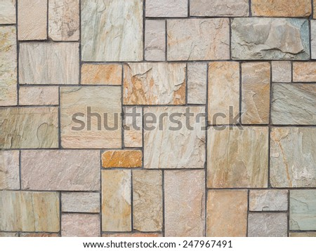 Marble stone wall tile background. - stock photo