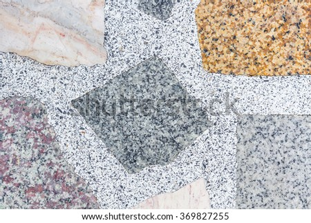 Marble stone walls with shadow for texture background