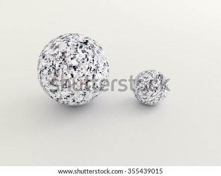 marble stones different measure  - rendered 3D Illustration - stock photo