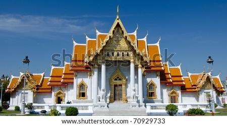 Marble temple Bangkok - stock photo