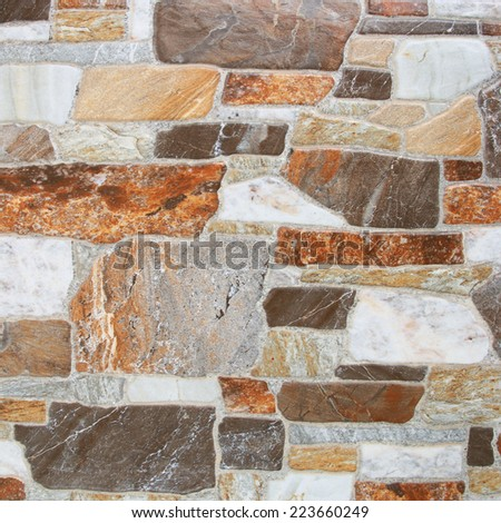 Marble Tiles floor walkway construction background texture pattern. - stock photo