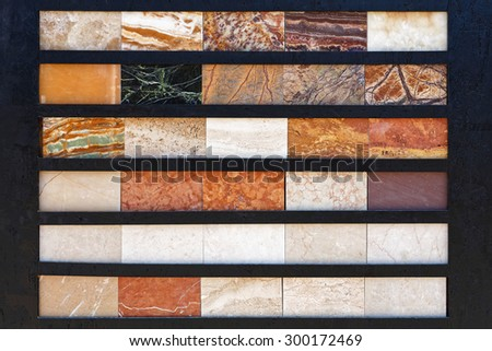 Marble Tiles Selection of Patterns and Colors