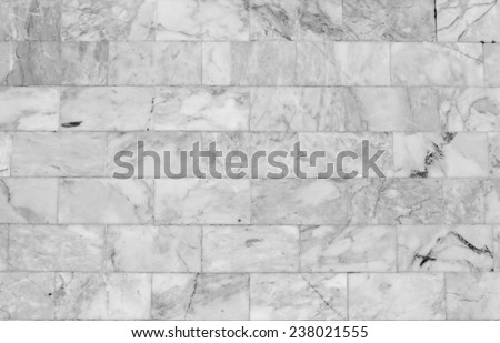 Marble wall patterned texture background. Marbles of Thailand in black and white. - stock photo