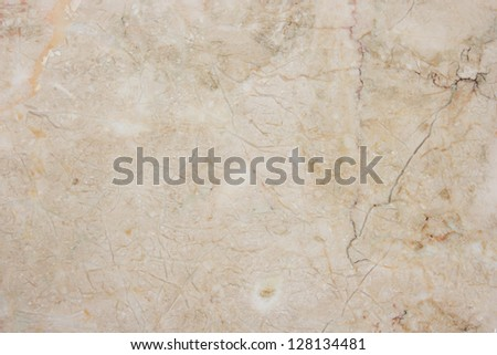 Marble with natural pattern. Seamless soft beige marble. - stock photo