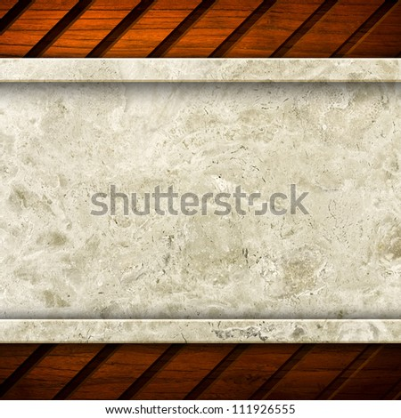 marble with wood frame - stock photo