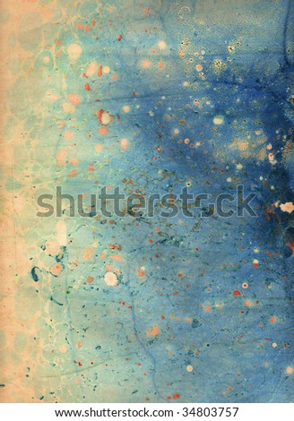 Marbled backround or marbled paper - stock photo