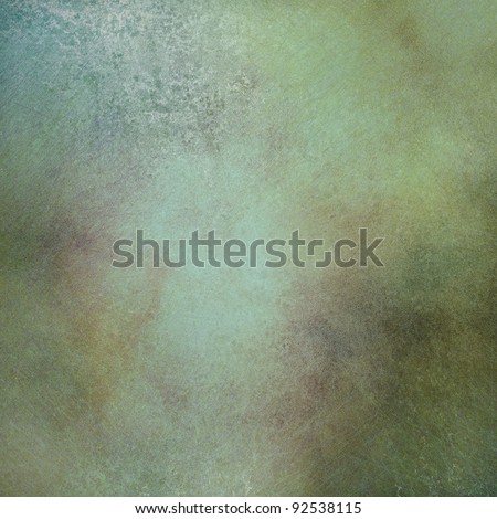 marbled green background with soft faded highlight and vintage grunge texture and mottled brown and gold accent designs in layout with copy space for ad text or brochure - stock photo
