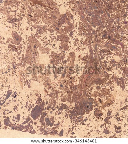 Marbled old paper. Abstract painting. Rich glamour luxury background. Retro vintage antique style. Boho, bohemian. Hand made east technique, genuine original effect. Brown, beige, terracotta colors - stock photo