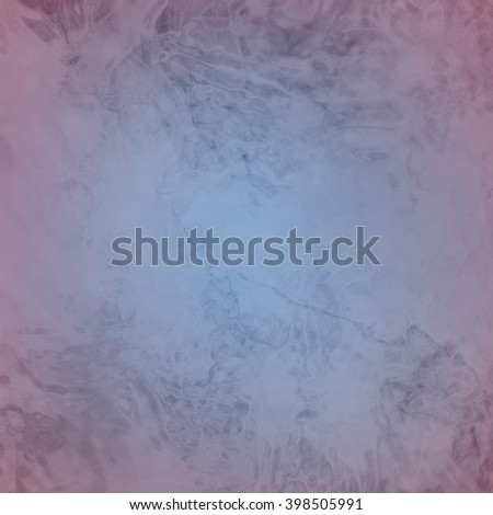 marbled textured background, glossy glass pattern of wavy texture shapes, pink border and blue center color - stock photo