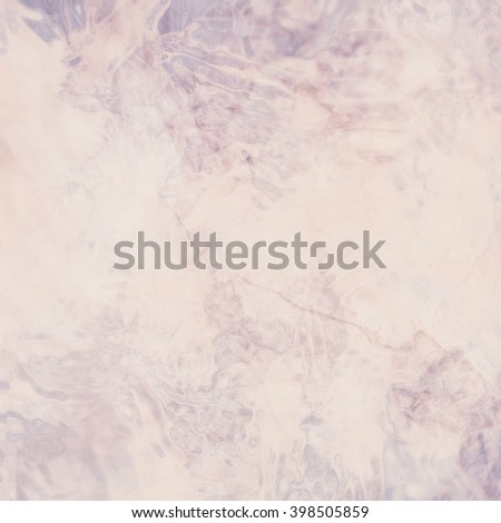 marbled textured background, glossy glass pattern of wavy texture shapes, rose pink and soft blue color - stock photo