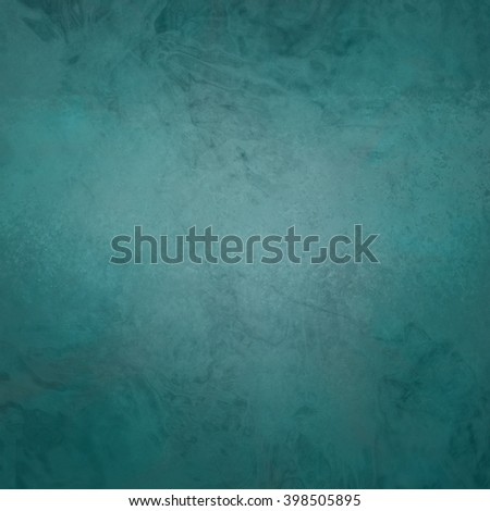 marbled textured background, glossy glass pattern of wavy texture shapes, teal blue green color - stock photo