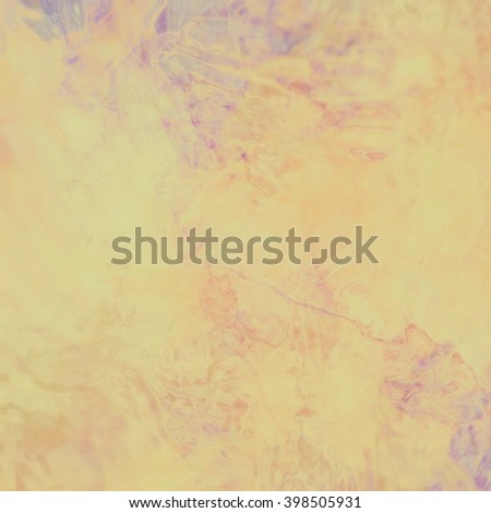 marbled textured background, glossy glass pattern of wavy texture shapes, yellow gold color with purple and blue accents - stock photo
