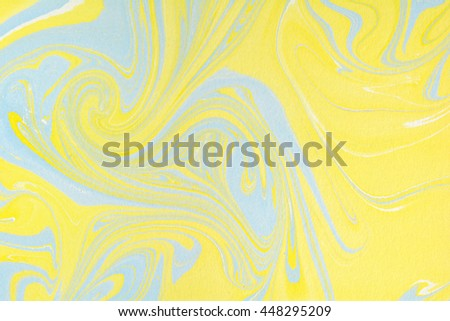 Marbling style. Writing surface, endpapers in bookbinding and stationery. Abstract handmade marble background. Ebru, traditional Turkish painting art. Painting on water. Transferred painting on paper. - stock photo