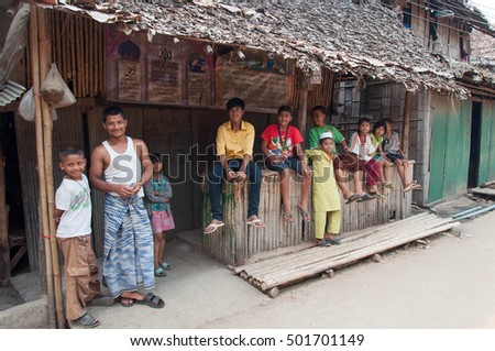 March 13,2013:Children in Mae la temporary shelter at Tak province,Thailand
