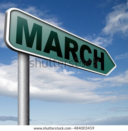 March this or next month of the year early spring event calendar 3D illustration