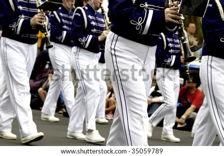 marching band - stock photo