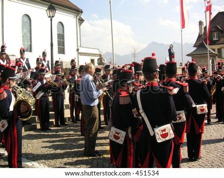 Marching band in Switzerland