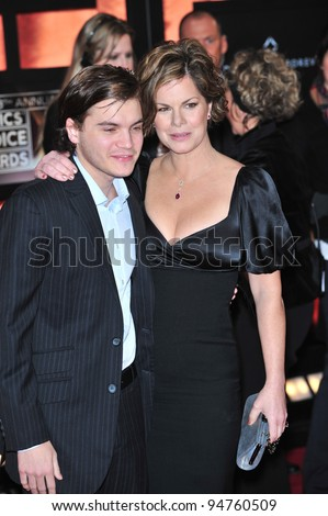 Marcia Gay Harden & Emile Hirsch at the 13th Annual Critics' Choice Awards at the Santa Monica Civic Auditorium. January 7, 2008  Los Angeles, CA Picture: Paul Smith / Featureflash