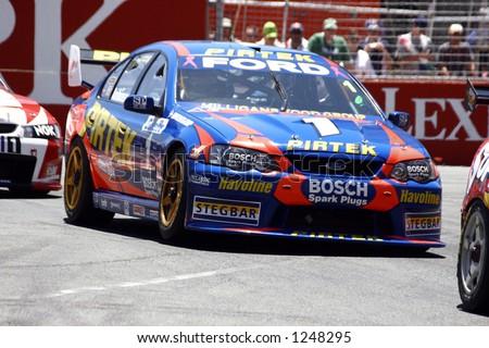 Marcus Ambrose australian V8 supercar - stock photo