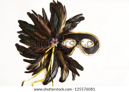Mardi Gras Mask from New Orleans, Louisiana - stock photo