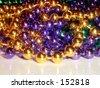 Mardis Gras Beads - stock photo