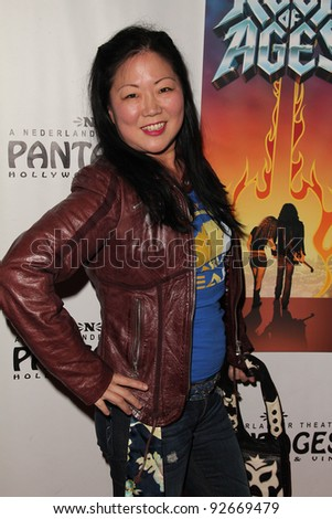 """Margaret Cho  at the """"Rock Of Ages"""" Opening Night, Pantages Theater, Hollywood, CA. 02-15-11 - stock photo"""
