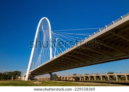 Margaret Hunt Hill Bridge in Dallas, Texas - stock photo
