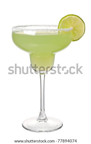 Margareta cocktail on a white background