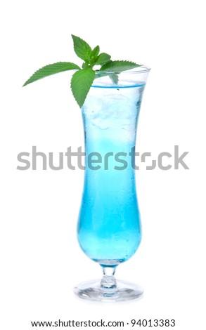 Margarita cocktail alcohol drink spirits mojito, mai tai, martini, blue hawaiian isolated on a white background - stock photo