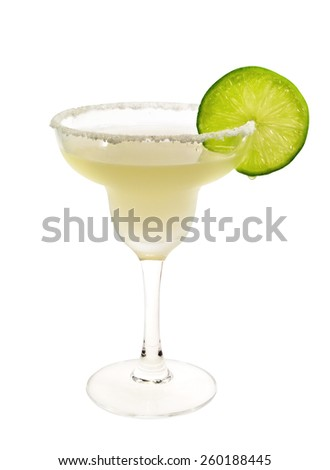 Margarita cocktail isolated on white background