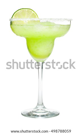 Margarita Cocktail on White
