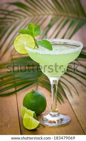 Margarita in a glass - stock photo