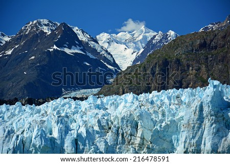 Margerie glacier in glacier bay, south east alaska - stock photo