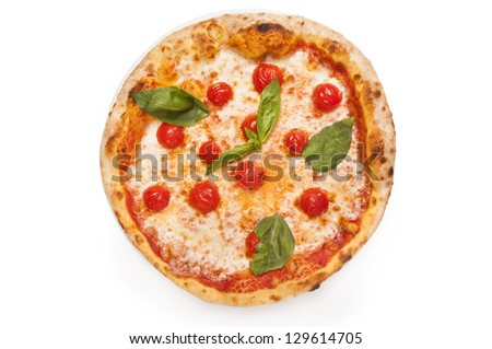 margherita pizza - stock photo
