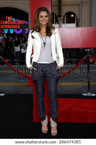 Maria Menounos at the Los Angeles premiere of 'The Hangover Part II' held at the Grauman's Chinese Theatre in Hollywood on May 19, 2011.  - stock photo