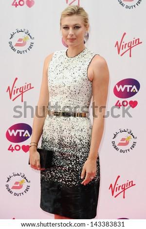 Maria Sharapova arriving for the WTA Pre-Wimbledon Party 2013 at the Kensington Roof Gardens, London. 20/06/2013 - stock photo