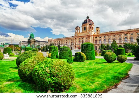 Maria Theresa Square.Arts and history museum Kunsthistorisches Museum Vienna, Austria. - stock photo