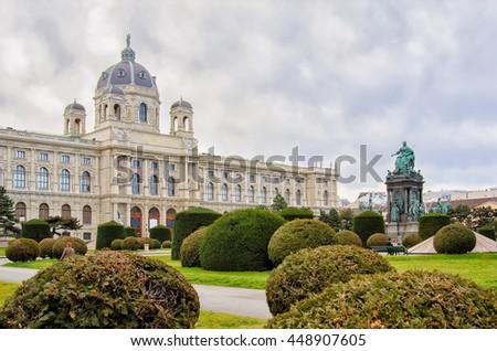 Maria-Theresien-Platz, Vienna, Austria - stock photo