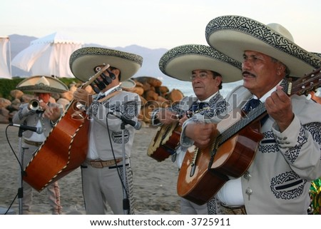 Mariachi Band in Puerto Vallarta - stock photo