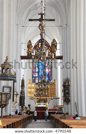 Mariacki church in Gdansk - stock photo