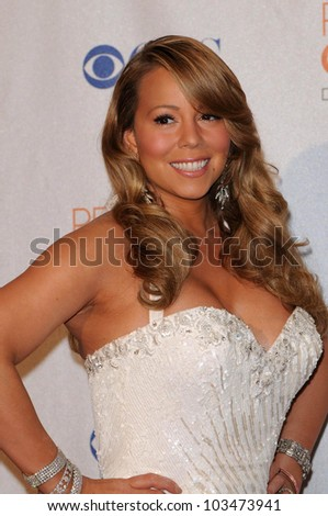 Mariah Carey at the 2010 People's Choice Awards Press Room, Nokia Theater L.A. Live, Los Angeles, CA. 01-06-10