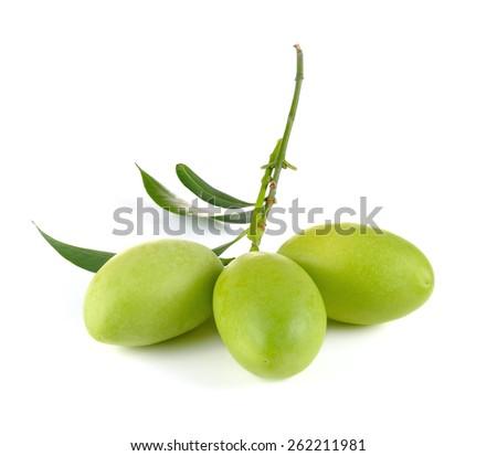 Marian plum thai fruit isolated on white background - stock photo