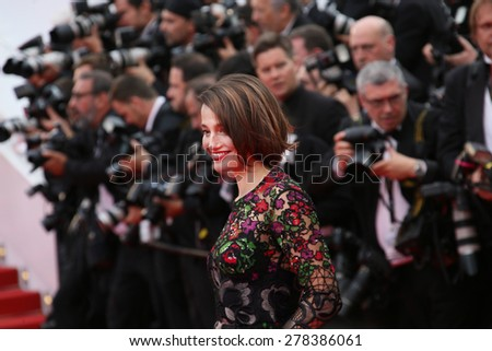 Marie Gillain attends the Premiere of 'Irrational Man' during the 68th annual Cannes Film Festival on May 15, 2015 in Cannes, France. - stock photo
