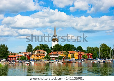 Mariefred, Sweden - stock photo
