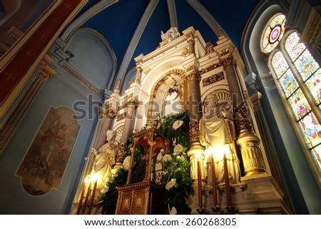 MARIJA BISTRICA, CROATIA - JULY 14: Basilica Assumption of the Virgin Mary in Marija Bistrica, Croatia, on July 14, 2014 - stock photo