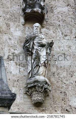 MARIJA BISTRICA, CROATIA - JULY 14: Saint Paul, basilica Assumption of the Virgin Mary in Marija Bistrica, Croatia, on July 14, 2014 - stock photo