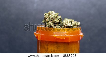 Marijuana  and Cannabis - stock photo