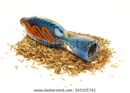 Marijuana and Cannabis on a White Background - stock photo